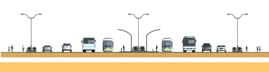 55 Meter Road Design Small Size